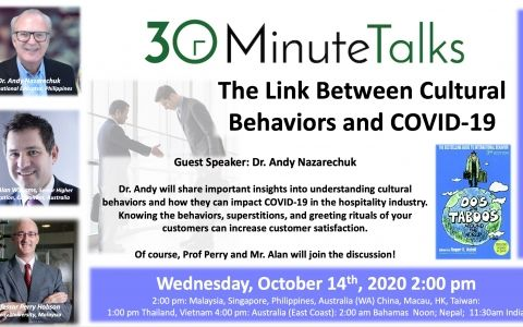 30 Minute Talks Culture and COVID19